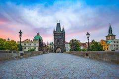 Charles Bridge - Prague - Czech Republic royalty free stock photo