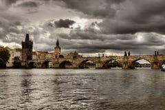 Charles Bridge in Prague, Royalty Free Stock Images