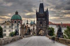 Charles Bridge in Prague, Royalty Free Stock Photos
