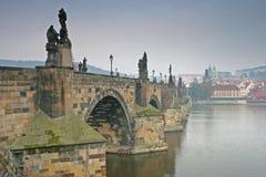 Charles Bridge Prague Czech Republic. In Autumn Stock Photos