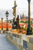 Charles Bridge in Prague. Czech Republic Royalty Free Stock Photos