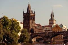 Charles bridge. Prague, Czech Republic. Color tone tuned Stock Photo