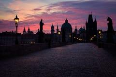 Charles bridge in Prague, Czech Republic Stock Photos