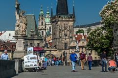 Charles Bridge in Prague, Czech Republic Royalty Free Stock Photo