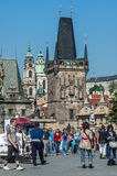Charles Bridge in Prague, Czech Republic Royalty Free Stock Images
