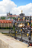 Charles Bridge in Prague Czech Republic Royalty Free Stock Images