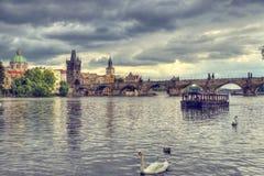 The Charles Bridge in Prague, Czech Republic Royalty Free Stock Photos