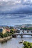 The Charles Bridge in Prague, Czech Republic Royalty Free Stock Image