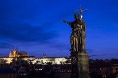 The Charles Bridge in Prague, Czech Republic Stock Photos