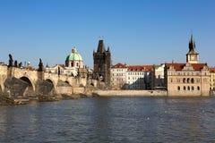 Charles bridge. The Charles Bridge in the Prague. Czech republic. Horizontal position Royalty Free Stock Photos