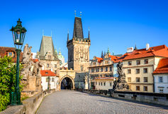 Charles Bridge, Prague, Czech Republic Stock Images