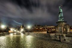 The Charles Bridge in Prague, Czech Republic Royalty Free Stock Photography