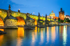 Charles Bridge, Prague, Czech Republic Stock Images