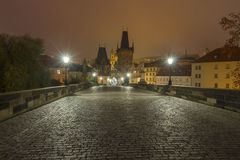 Charles Bridge in Prague. Czech Republic. Royalty Free Stock Photography