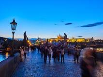 PRAGUE, CZECH REPUBLIC - SEPTEMBER 4, 2017. Charles bridge, Prague, Czech Republic. Charles bridge, Prague, Czech Republic Stock Photography