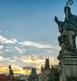 Charles Bridge, Prague, Czech Republic. A statue on Charles Bridge Royalty Free Stock Photo