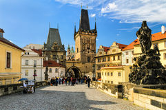Charles Bridge in Prague, Czech Republic Stock Photos