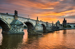 Charles Bridge in Prague, Czech Republic Stock Image