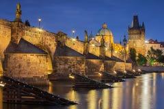 Charles Bridge  - Prague , Czech Republic Stock Photos