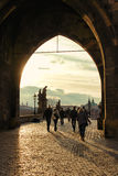 Charles Bridge, Prague, Czech Republic. View of the entrance to the Charles Bridge, Old Town Prague, Czech Republic Stock Photos
