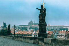 Charles Bridge in Prague, Czechia Royalty Free Stock Photo