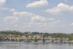 Charles Bridge, Prague, Czechoslovakia Royalty Free Stock Photo