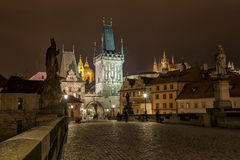 Charles Bridge, Prague, Czechoslovakia Royalty Free Stock Photos