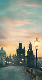 Charles Bridge in Prague Royalty Free Stock Photos