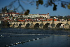 Charles Bridge in Prague. Royalty Free Stock Photography