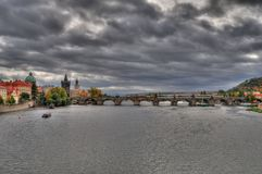 Charles Bridge, Prague - HDR Stock Photo