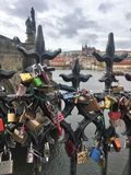 Charles Bridge in Prague royalty free stock image