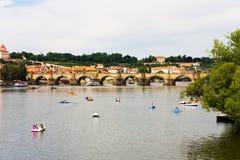 Charles bridge. In prague, judith bridge over the vltava Stock Photos