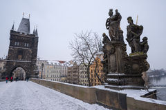 Charles Bridge at Prague Royalty Free Stock Photography