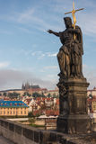At Charles Bridge in Prague Royalty Free Stock Images