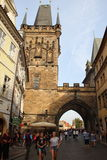 Charles Bridge, Prague. Charles Bridge is a must-see in Prague and the castle-like monuments are especially awe-inspiring Stock Photography