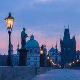 Charles Bridge in Prague Stock Photography