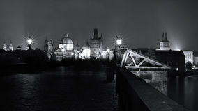 On the Charles Bridge in Prague Stock Photography
