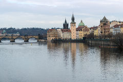 Charles bridge at prague Royalty Free Stock Image