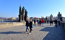 Charles Bridge, Prague Royalty Free Stock Image