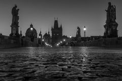 Charles Bridge Prague Praha Stock Photo