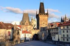 Charles Bridge in Prague Stock Image
