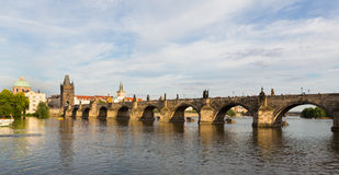 Charles Bridge in Prague at Sunset Royalty Free Stock Photos