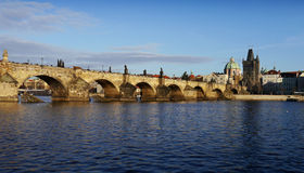 Charles bridge, Prague. Charles bridge and Prague towers Royalty Free Stock Photo