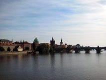 Charles Bridge, Prague. View on Charles Bridge in Prague Stock Photo
