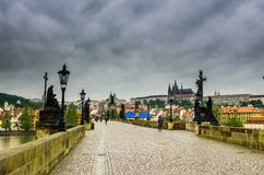 Charles Bridge Prague view from above Stock Image