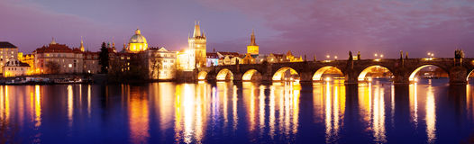 Charles Bridge in the Prague Stock Images