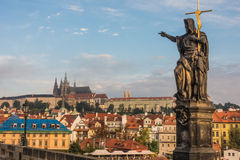 At Charles Bridge in Prague Royalty Free Stock Image