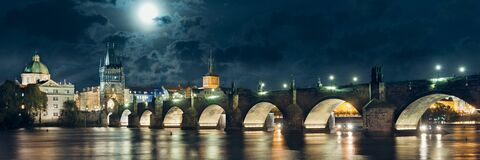 Free Charles Bridge Reflected In Vltava River In Prague Royalty Free Stock Photography - 216286207