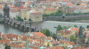 Charles bridge from St. Vitus cathedral, Prague, Czech republic Stock Images