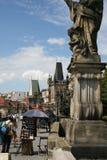 Charles Bridge_ statue Stock Photo